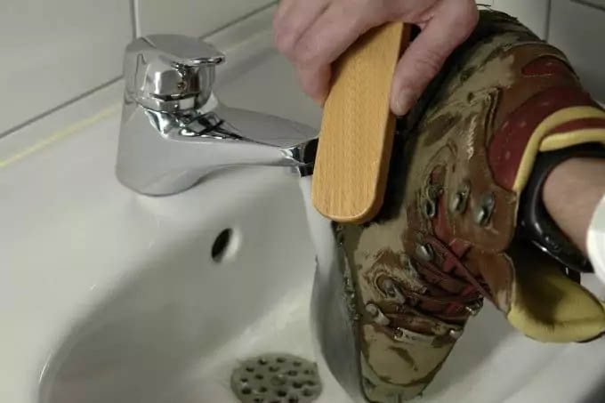 Clean your hiking boots