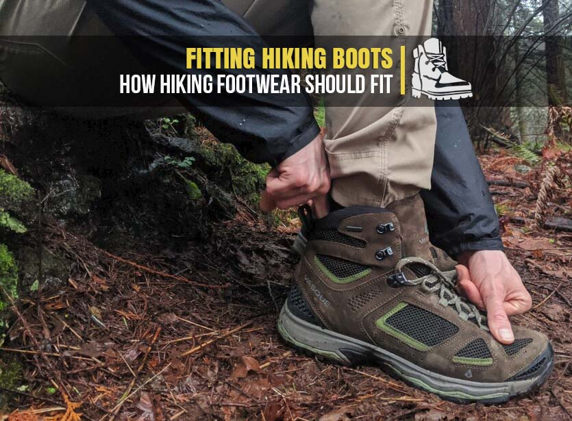 Fitting hiking boots