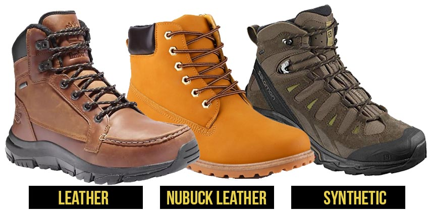 Standard materials of the hiking boots