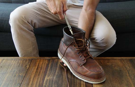 Use a boot stretcher for hiking boots