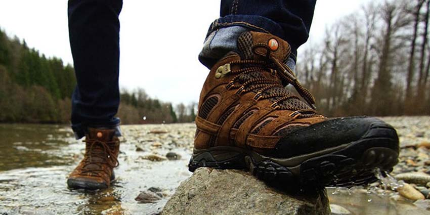 Waterproofing of the hiking boots