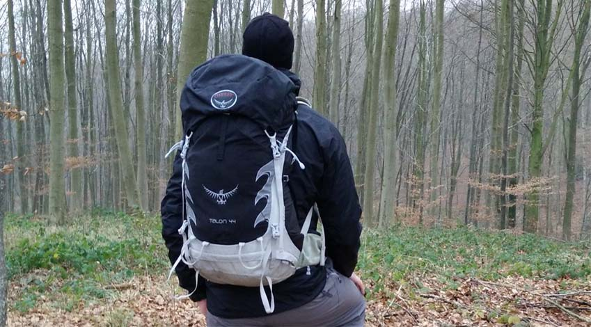 Hike with a loaded backpack